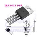 транзистор IRF3415PBF TO220AB N-канал Uds=150V Id= 43A Pd=200W
