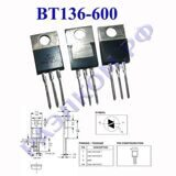 Симистор BT136-600, 127 TO220AB 600V 4A Igt max 70mA