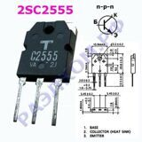 транзистор 2SC2555 TO218 NPN Uce=400V Ic=8A Pc=80W