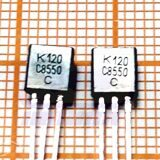 транзистор C8550 (KTC) TO92 PNP Uce=25V Ic=0.8A Pc=0.625W (LM8550)