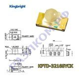 Светодиод KPTD-3216SYCK чип 1206 желтый  led lamps/590nm/water clear/70-250mcd/50°/2.0V